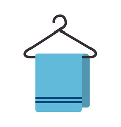 Towel hanging isolated icon vector