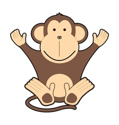 Childrens of cheerful monkeys vector