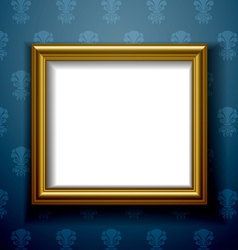 Gold frame on wall vector