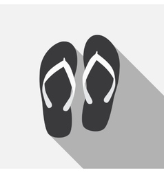 Flip flop flat icon with long shadow vector
