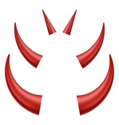 Red horns vector