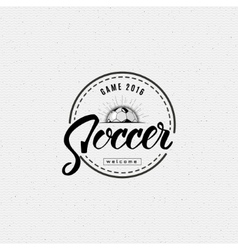 Football soccer hand lettering badges and labels vector