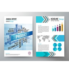 Annual report design template cover brochure vector