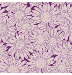 seamless daisy pattern vector image