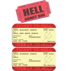 Ticket to hell vector