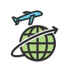 Global flights vector