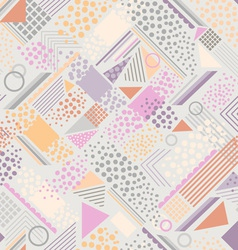 Abstract pastel geometric background vector