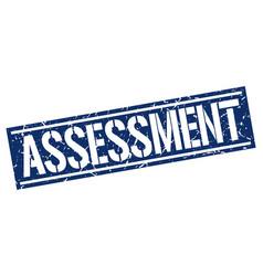 Assessment square grunge stamp vector