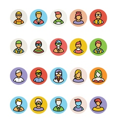 Avatar icons 3 vector