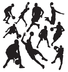 Basketball vs vector image