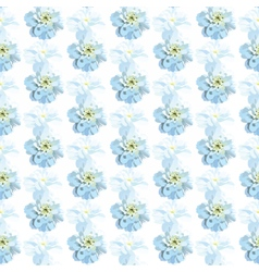 Beautiful watercolor blue flowers card background vector