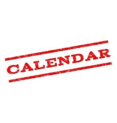 Calendar watermark stamp vector