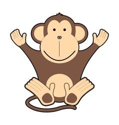Childrens of cheerful monkeys vector image