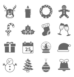 Christmas Holiday Icons vector image