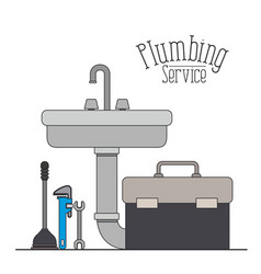 Color poster of handwash plumbing service vector