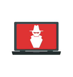 computer spyware infected vector image vector image