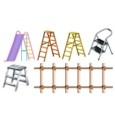 Different types of ladders vector