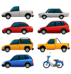 different types of transportations vector image