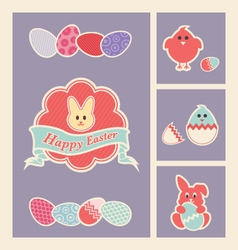 Easter design elements and icons set vector image vector image
