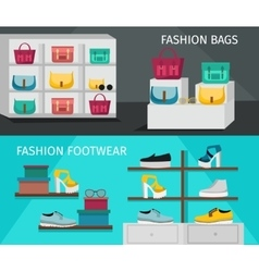 Fashion accessories banner set vector