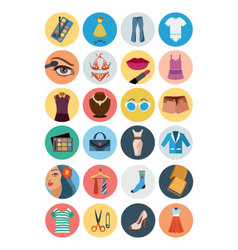 Fashion flat icons 3 vector