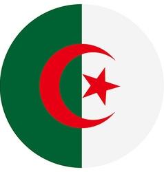 Flag of algeria vector