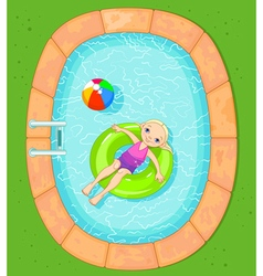 Girl at the Pool vector image
