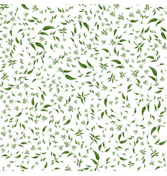 Green leaves on a branch seamless pattern vector