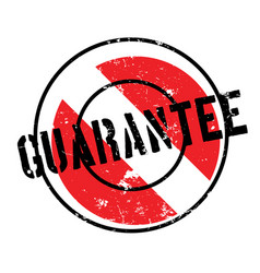 Guarantee rubber stamp vector