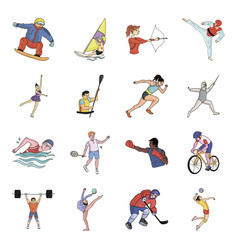 Hockey tennis boxing sports included in the vector