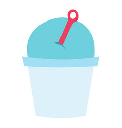 Ice cream blueberry cartoon dessert vector