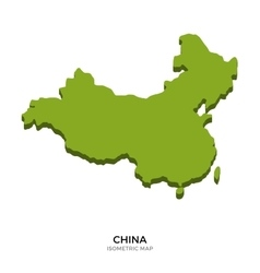 Isometric map of china detailed vector