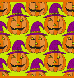 jack-o-lantern pumpkin background halloween vector image