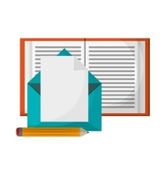 Learning book email envelope pencil vector