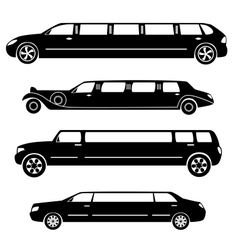 Limousines silhouettes collection vector image