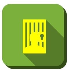 Locked prisoner longshadow icon vector