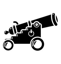 Menacing cannon icon simple style vector
