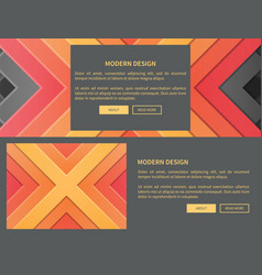 modern design web page on vector image vector image