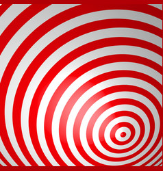 Red volumetric striped background concentric vector