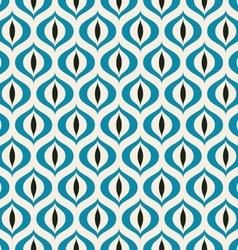 Retro Geometric seamless pattern Cats eye vector image vector image