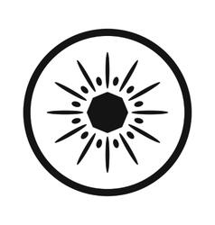 Sliced kiwi simple icon vector image vector image