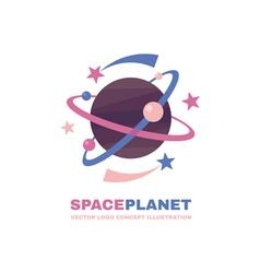 Space planet logo vector