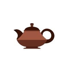 Tea pot icon flat style vector