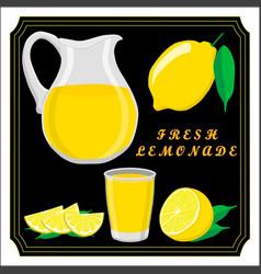 the set lemonade vector image