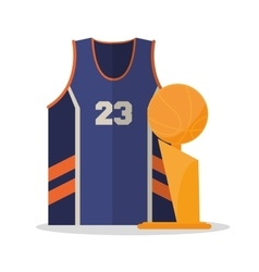 Tshirt and trophy of basketball sport design vector