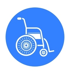Wheelchair icon black single medicine icon from vector