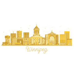 Winnipeg canada city skyline golden silhouette vector