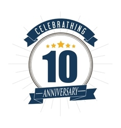 10 year celebrating anniversary graphic vector