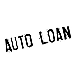 Auto loan rubber stamp vector