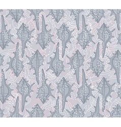 Seamless pattern with seashells on a gray backgrou vector